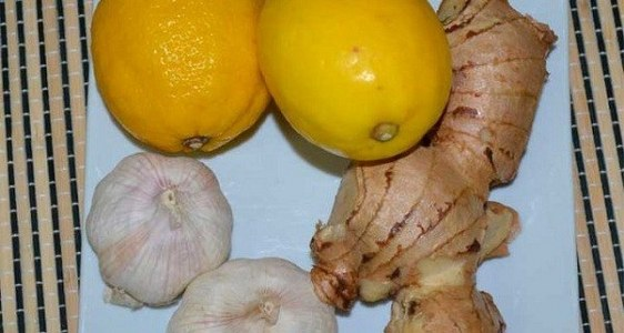 lemon , garlic and ginger
