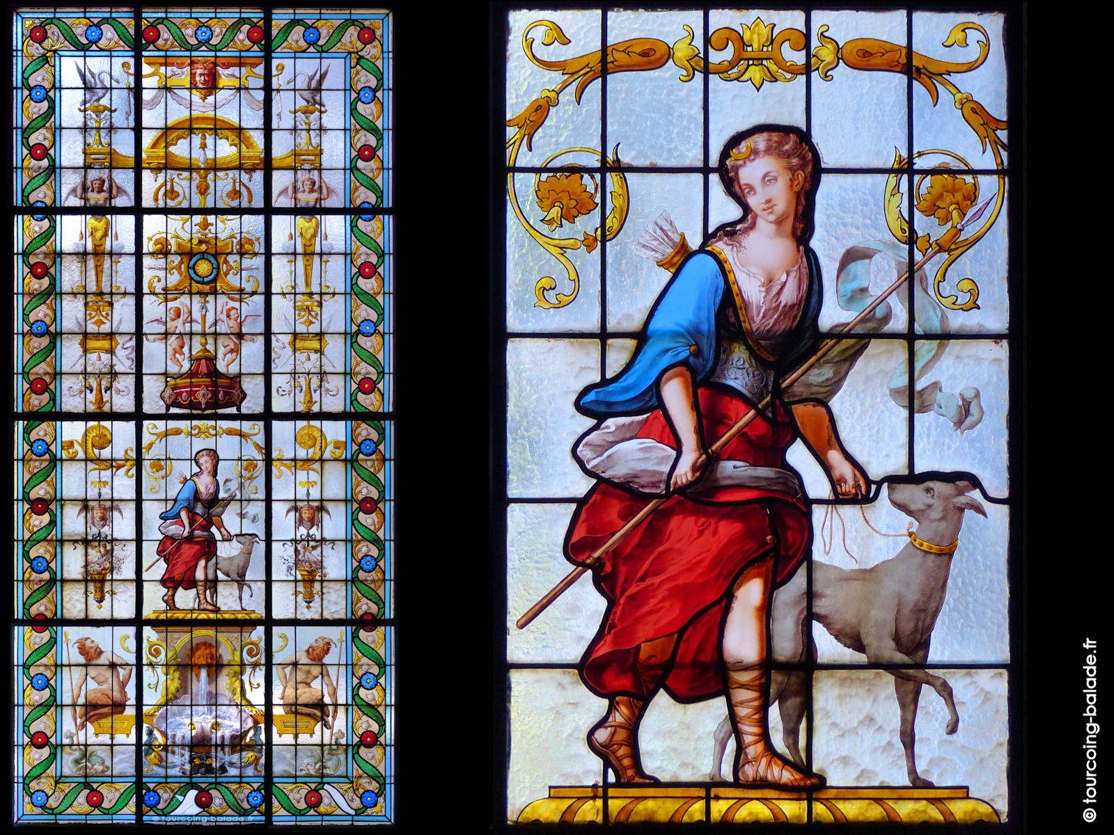 Vitrail Vantillard - Diane Chasseresse, 1890