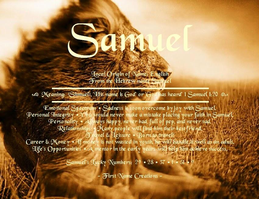 Samuel | . . . Tell Me Your Name . . . | Pinterest