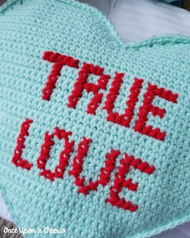 FREE Cross Stitch Letters on a Single Crochet Canvas