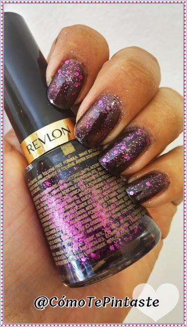 esmalte revlon scandalous violeta purple glitter