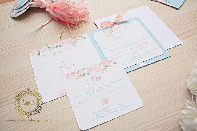 dodatki ślubne pastelowe i miętowe