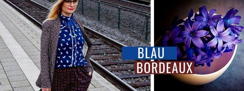 Blau-kombinieren-Bordeaux