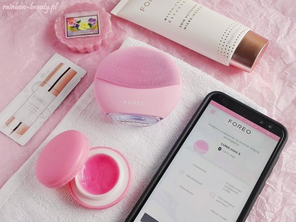 foreo luna mini 3 soniczna szczoteczka do oczyszczania twarzy aplikacja android