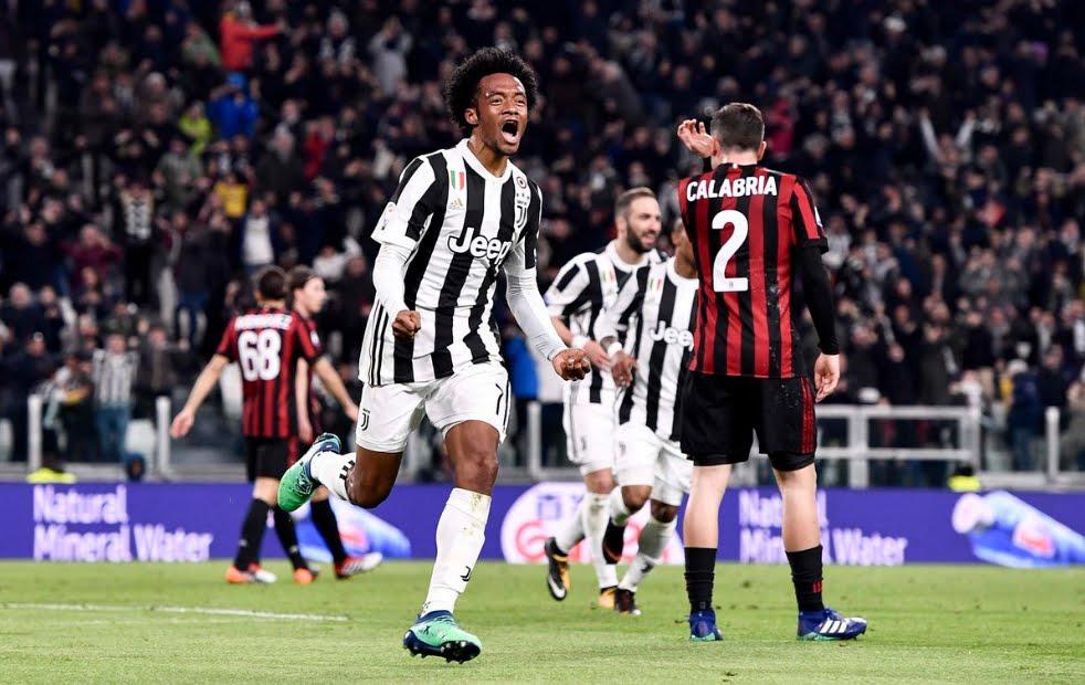 Juventus-Milan risultato firmato Dybala Cuadrado Khedira, +4 dal Napoli in classifica