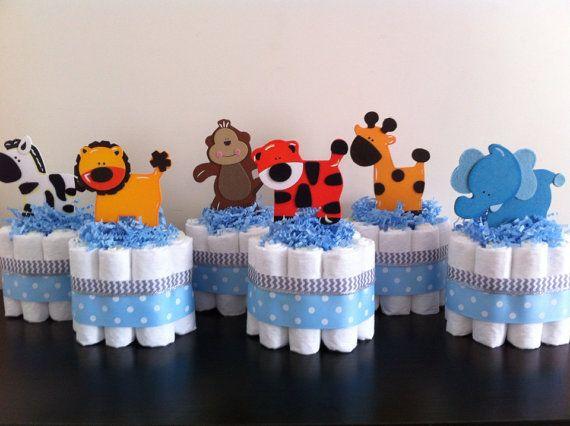Centro de Mesa DIY decorativo para Chá de Bebê Menino!