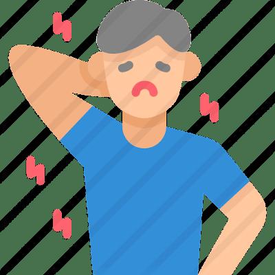 ilustração doente de covid - não vacinado