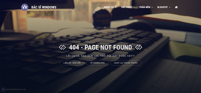 Create 404 Error Pages with Beautiful and Professional CSS for Blogspot