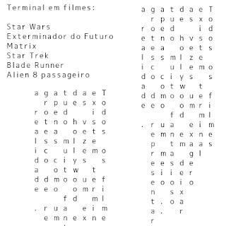 Terminal em filmes clássicos da ficção cientifica