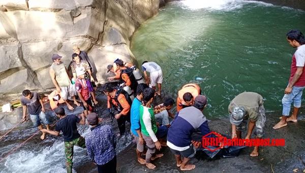 Tim SAR Gabungan Temukan Korban Tenggelam di Curug Rambu Kasang