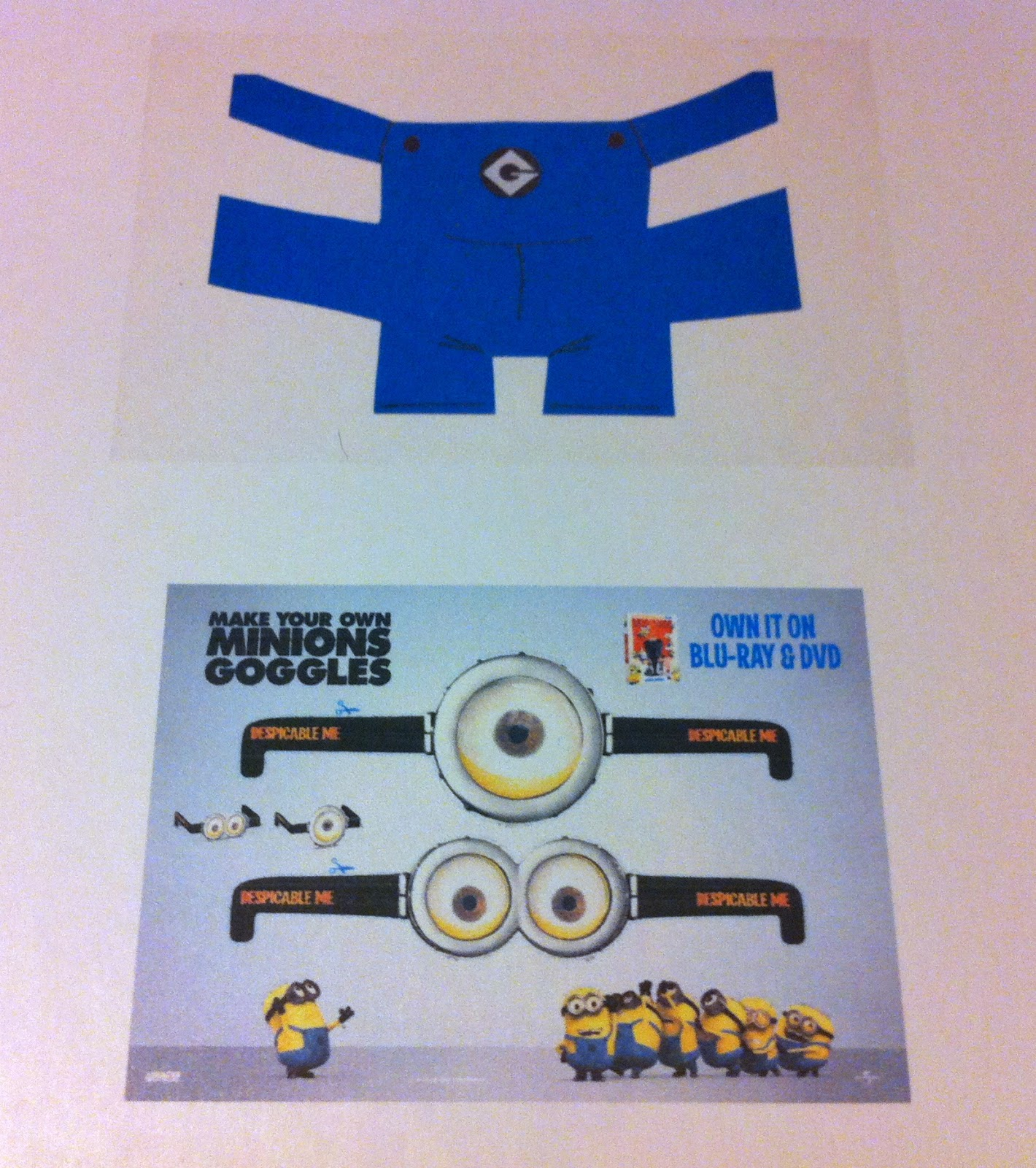 The crafty crazy despicable me minion twinkies for Minion overall template
