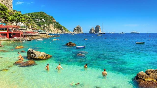 Ilha de Capri no sul da Itália
