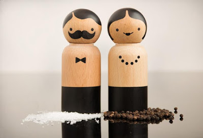 Mr and Mrs Salt and Pepper Mills