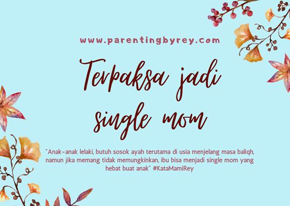 Single mom mengasuh anak lelaki