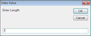Step 2 − Upon execution, the First input box (length) is displayed. Enter a value into the input box Shout For Education
