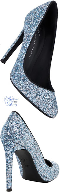 Brilliant Luxury ♦ Giuseppe Zanotti blue Annette glitter pumps