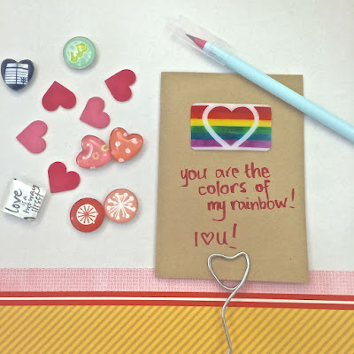 Valentine's Day Cards shrink plastic