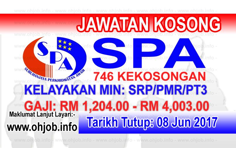 Jawatan Kerja Kosong SPA8i - Suruhanjaya Perkhidmatan Awam Malaysia logo www.ohjob.info jun 2017