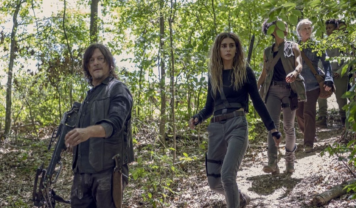 Daryl y Magna en el episodio 10x08 de The Walking Dead