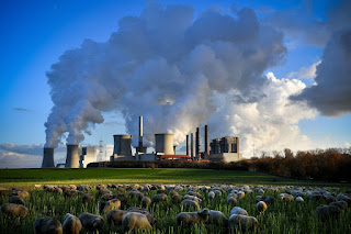 A brown-coal-fired power plant in Bergheim, Germany. (Credit: Sascha Steinbach/EPA-EFE/REX) Click to Enlarge.