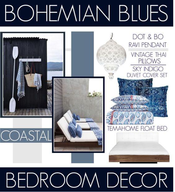 Bohemian Blues Coastal Bedroom Decor www.toyastales.blogspot.com #ToyasTales
