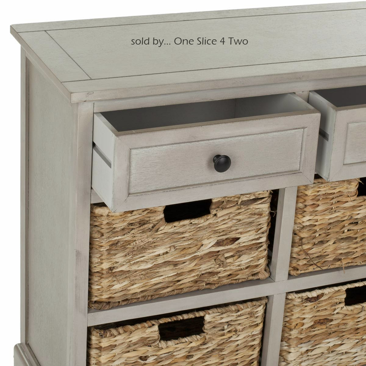 Herman 6 Drawer Storage Unit In Vintage Grey Color One Slice 4 Two