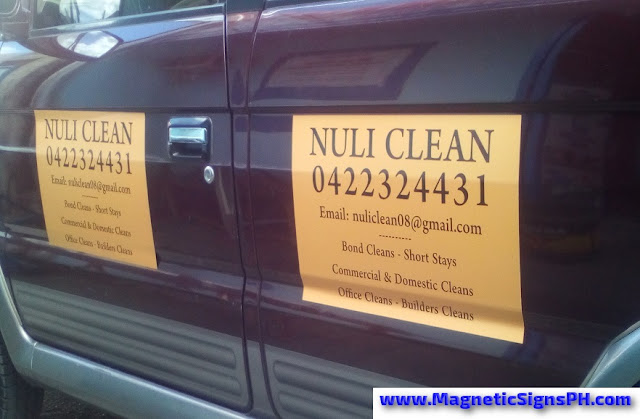 Van Magnetic Signs - Nuli Clean