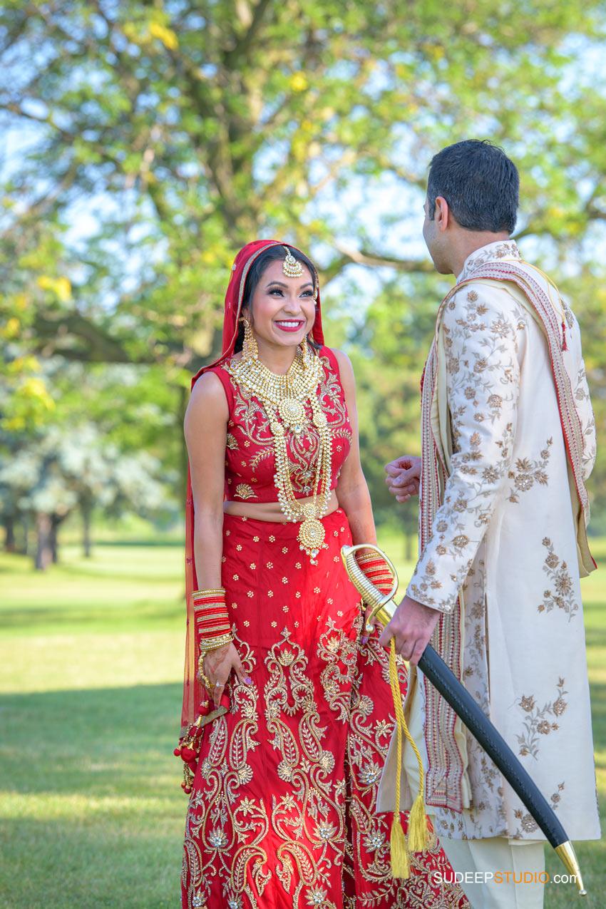 Indian Wedding Photography First Look at Eagle Crest Marriott SudeepStudio.com Ann Arbor South Asian Indian Wedding Photographer