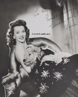 Carole Landis Gina Autograph