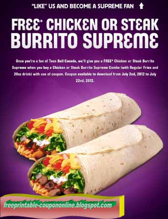 Taco bell canada coupons august 2018
