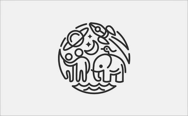 Trend Desain Logo Design 2015 - Line art, Bold Thin Line Logo