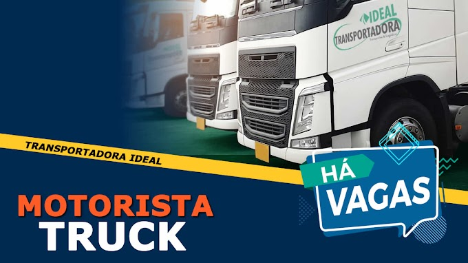 Transportadora Ideal abre vagas para Motorista categoria C e D