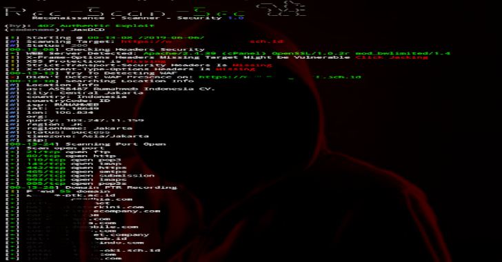 RecScanSec – Reconnaisance Scanner Security