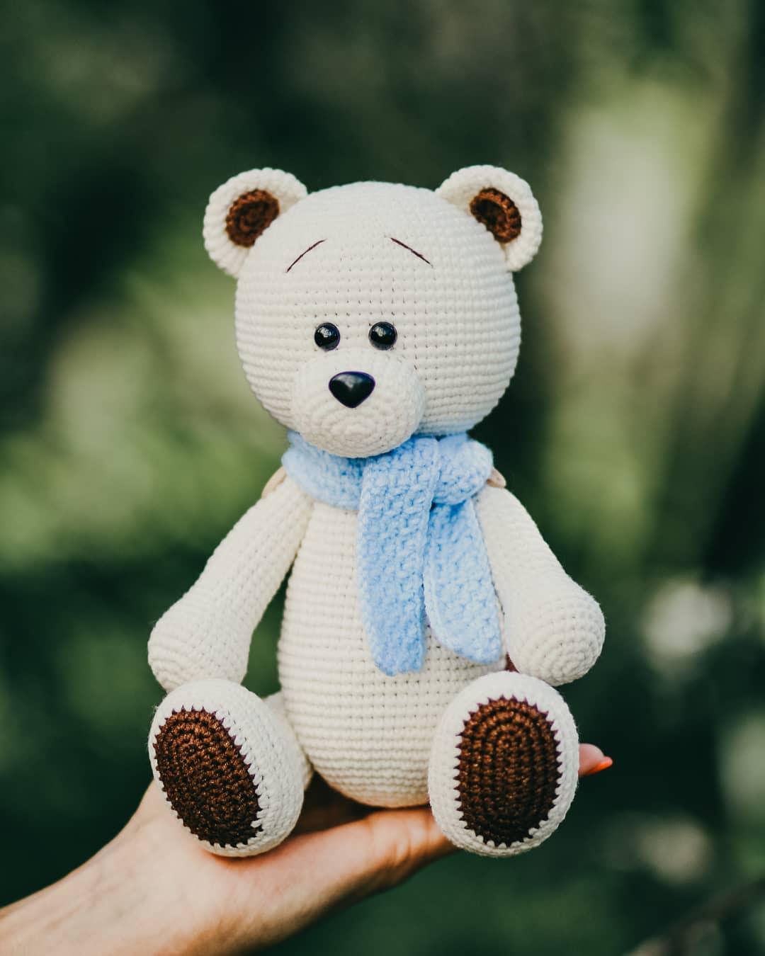 Large Crocheted Teddy Bear - Free Pattern - PDF Download | Crochet ... | 1350x1080