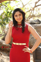 Telugu Actress Zahida Sam Latest Pos in Red Gown at RF Films New Movie Opening  0181.JPG