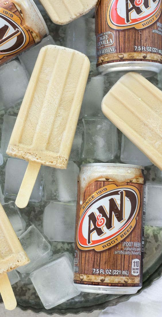 ROOT BEER FLOAT POPSICLES