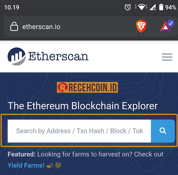 tempat cek transaksi ethereum