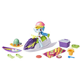 My Little Pony Equestria Girls Minis Beach Collection Sporty Beach Set Rainbow Dash Figure