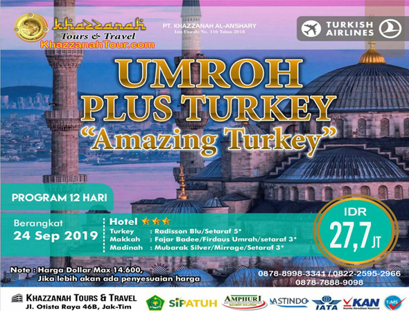 Paket Umroh Plus Turki 2019 amazing