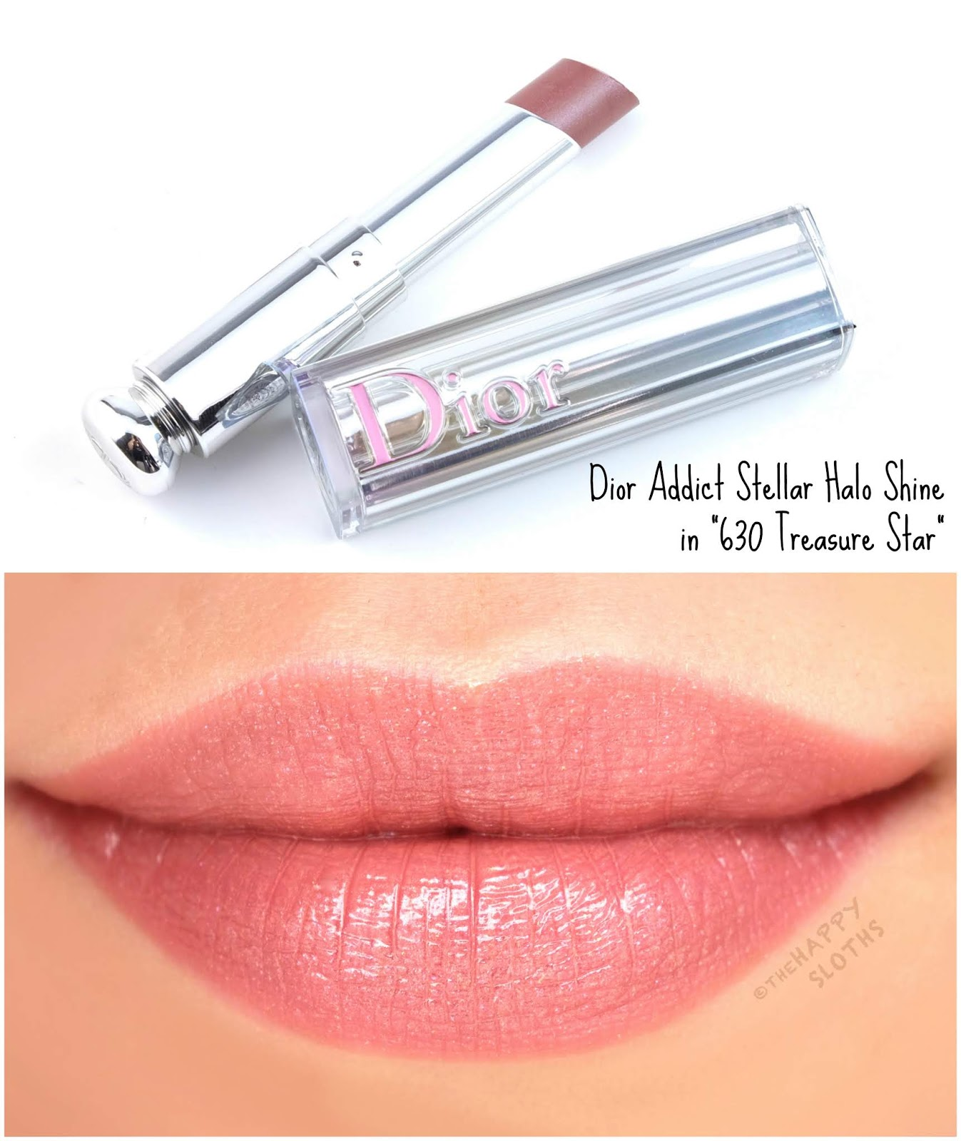 "Dior | Dior Addict Stellar Halo Shine Lipstick in ""630 Treasure Star"": Review and Swatches"
