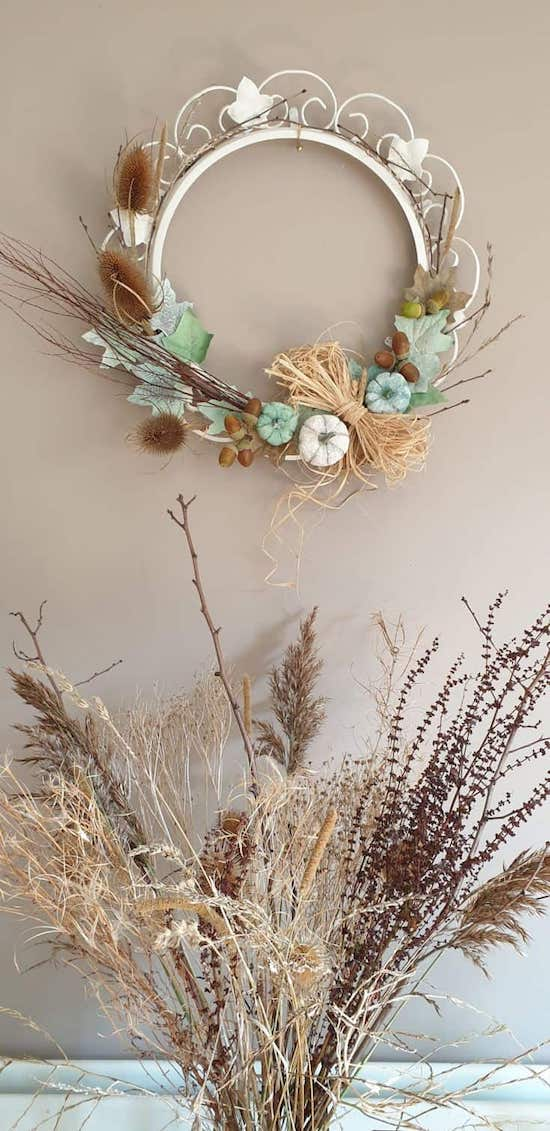 DIY Fall Wreath Upcycle Project Idea