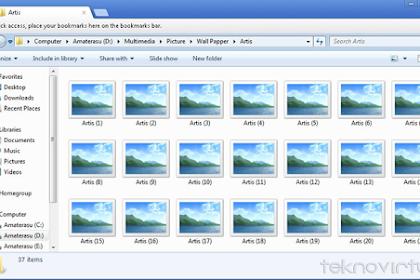 Cara Mengatasi Thubmnail Gambar Windows Xplorer Tidak Bisa Tampil