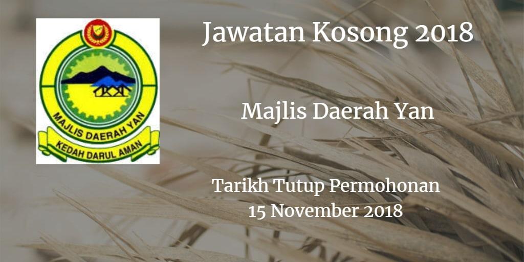 Jawatan Kosong MDY15 November 2018