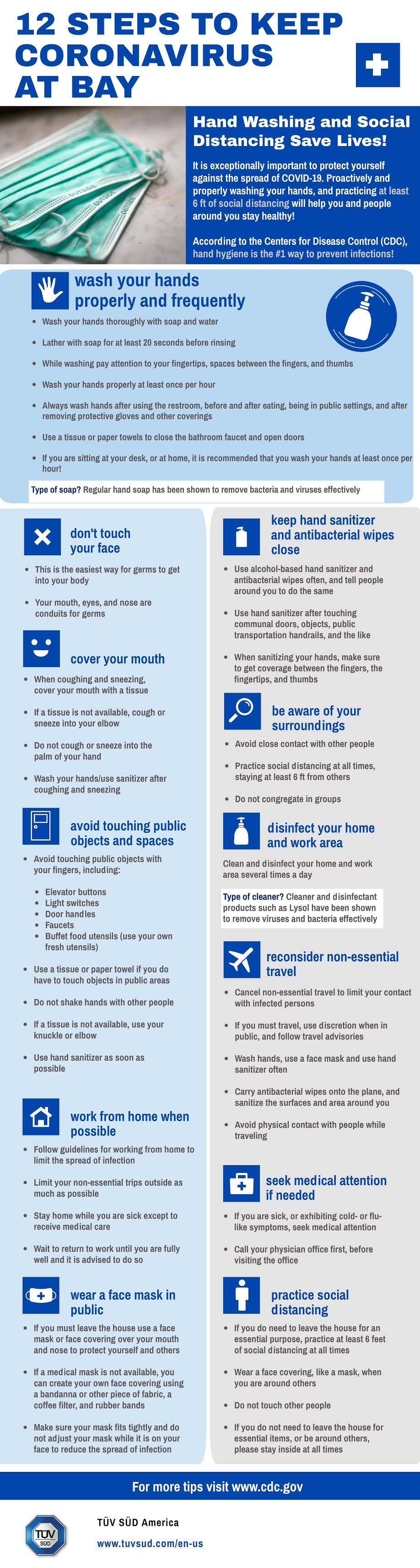 12 Steps To Keep Coronavirus At Bay #infographic