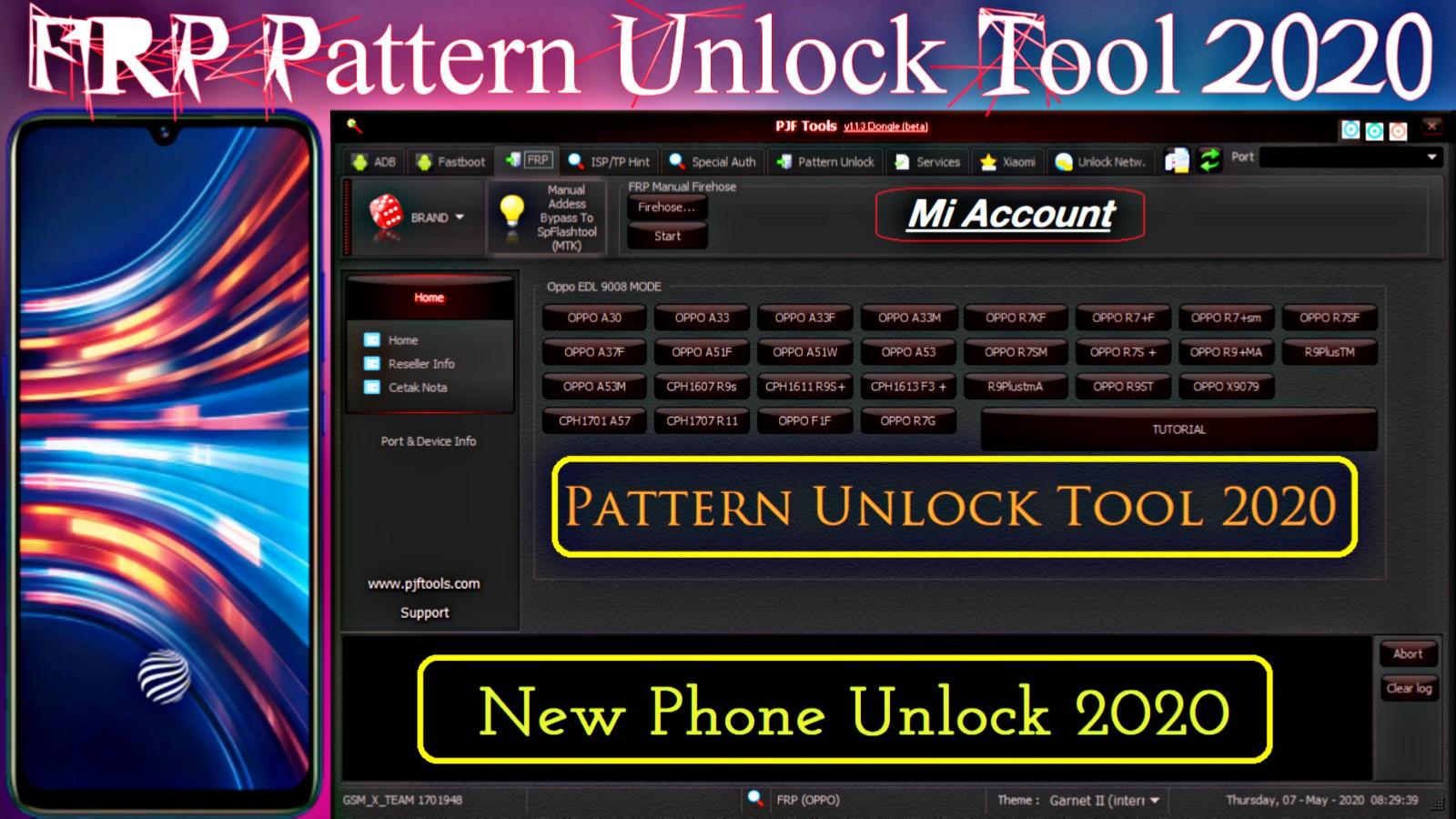 All In One Pattern Unlock Tool 2020 | Oppo, Vivo, samsung, Mi, Huawei, | FRP, Mi Account