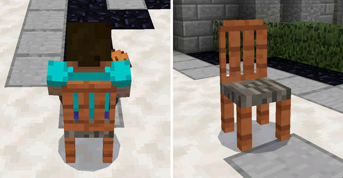how to make a beach chair in minecraft pe
