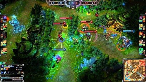Minimap đóng góp rất cao vào lối chơi của Game Liên minh