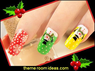 Christmas nails stickers