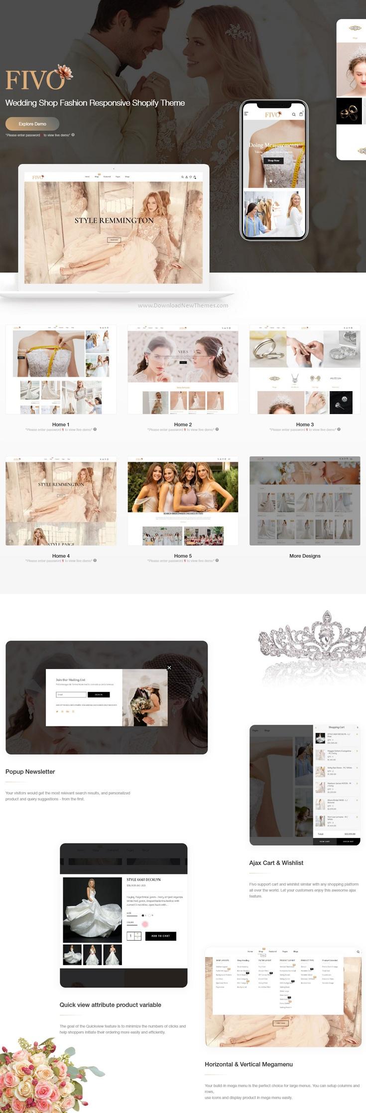 Wedding Shop Fashion Responsive Shopify Theme
