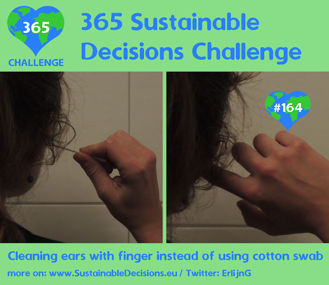 Cleaning ears with finger instead of using cotton swab reducing plastic waste reducing waste